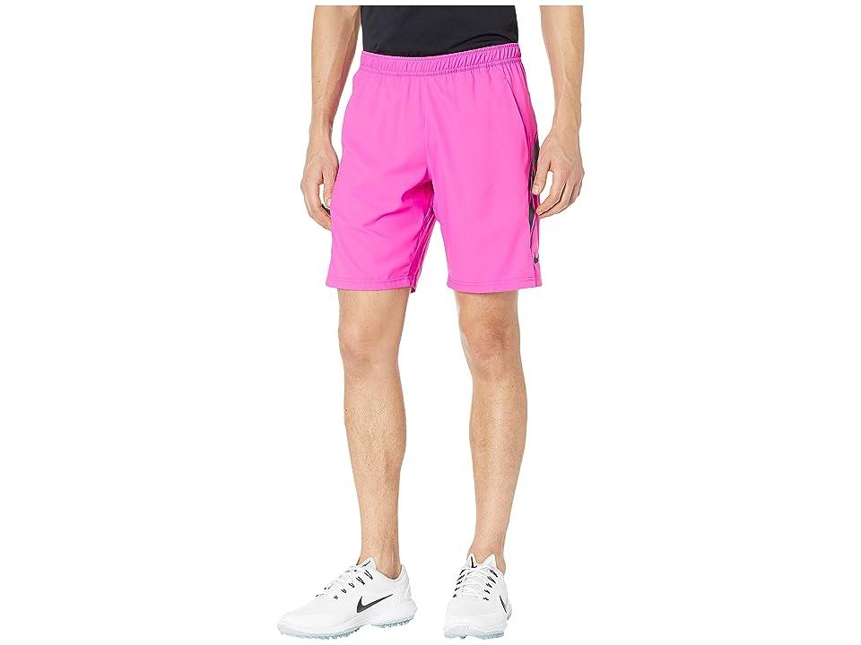 Nike NikeCourt Dry Shorts 9 (Active Fuchsia/Oil Grey/Oil Grey) Men