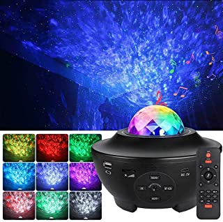 Galaxy Projector, Star Projector 3 in 1 Night Light Projector w/LED Nebula Cloud with Bluetooth Music Speaker for Baby Kid...