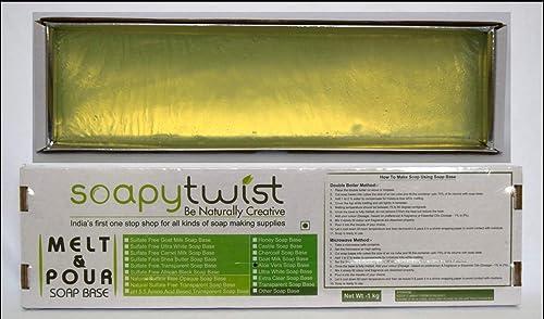 Soapy Twist Aloe Vera Melt and Pour Soap Base (1 Kg)