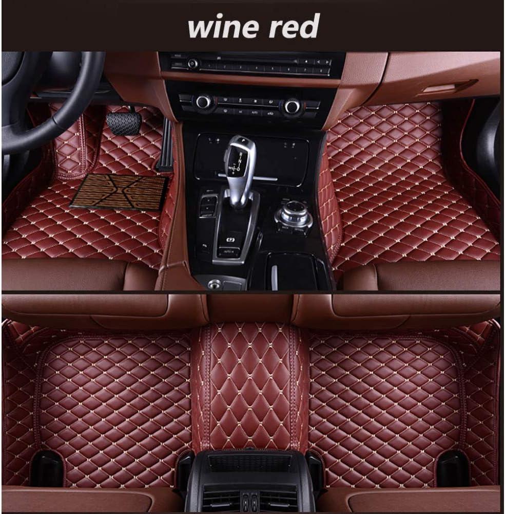 GLEETIEZ New color Custom Car Floor Genuine Coverage Leather Mats Full