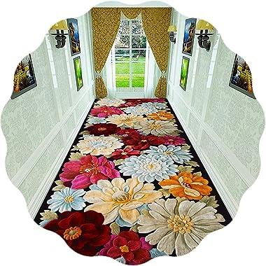 JIAJUAN Hallway Runner Rug 3D Printing Non Slip Modern Area Rugs Hall Entrance Kitchen Passage Runners, 2 Styles (Color : B,
