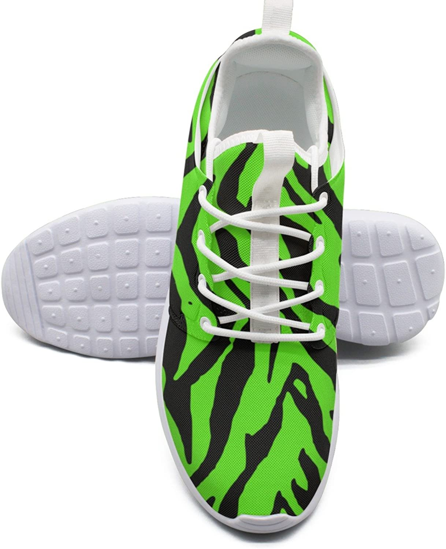 ERSER Animal Stripes Green Winter Running shoes Women