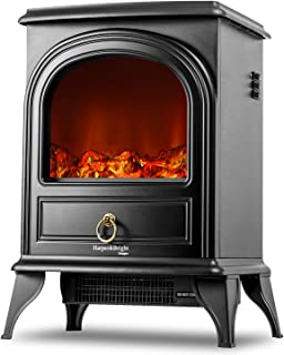 Harper & Bright Designs Electric Fireplace Stove Heater Portable Fireplace (black1)
