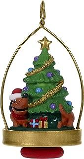Hallmark Keepsake Mini Christmas 2019 Year Dated Chasing His Tail Dachshund Miniature Ornament, 1.87