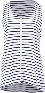 Bird Keepers Womens Tanks The Cotton Bamboo Tank Navystripe - Tops