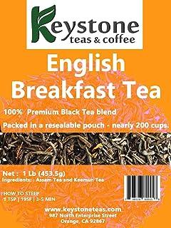 Sponsored Ad - English Breakfast Loose Leaf Tea, 1lb Pouch Premium Black tea blend of Assam and Keemun, Drink Hot or Iced,...