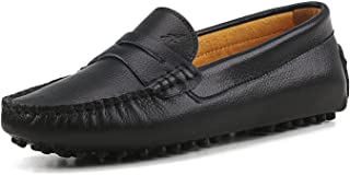 Beige Ladies Spot on Flat Moccasin Style Slip On Shoes Studs Ice Black F8962