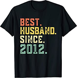 7th Wedding Anniversary Best Husband Since 2012 T-Shirt