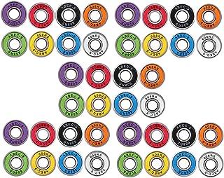 YIJU 40 Peças de Rolamentos de Patins para Skate Abec 9 Liso 608 RS 8x22x7mm