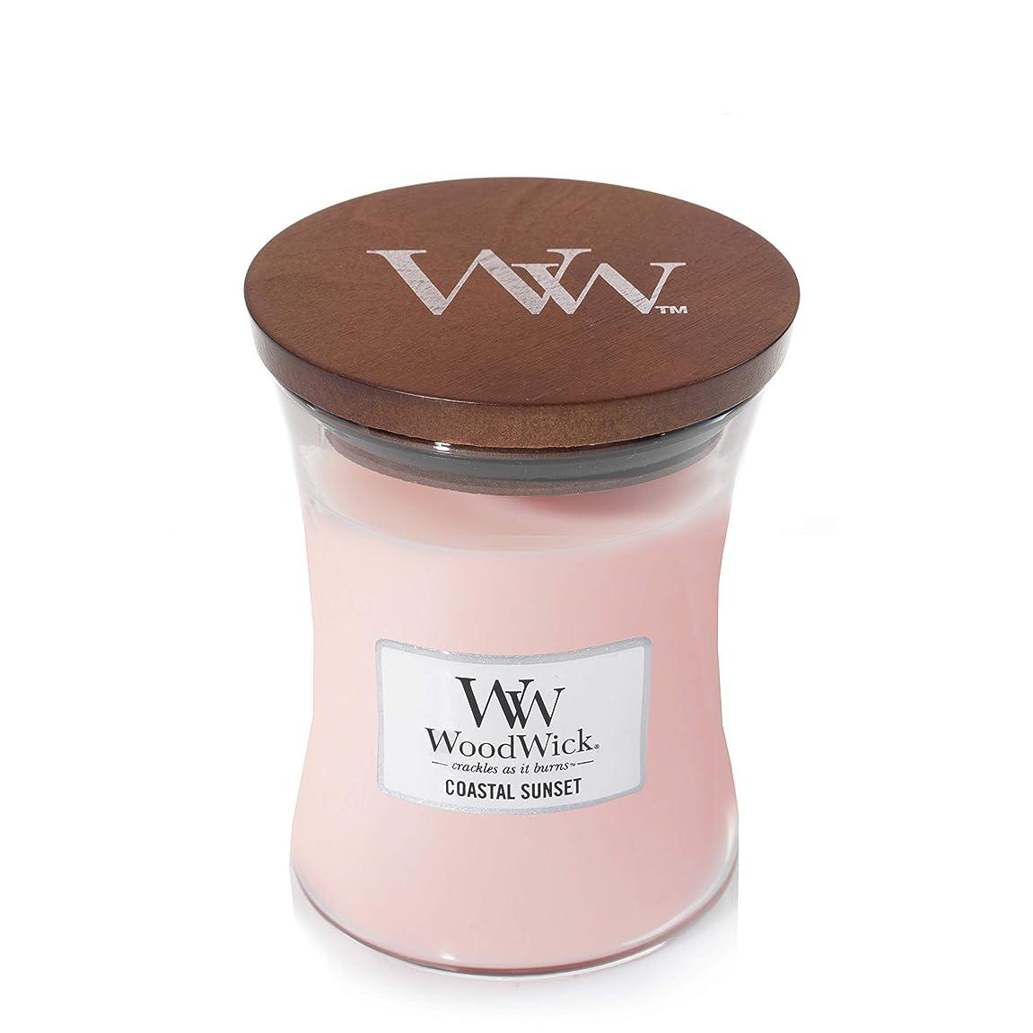 アサート枯れる追い出すWoodWick Coastal Sunset Medium Jar Scented Candle