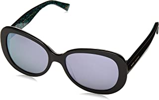 Marc Jacobs Women's Marc 261/S 3J 2PO 56 Sunglasses, Black (Blei Animal/Bl Blue)