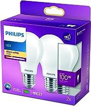 LED Replaces 100 W, E27, Warm White (2700 Kelvin), 1521 lumens, matt, Pack of 2.