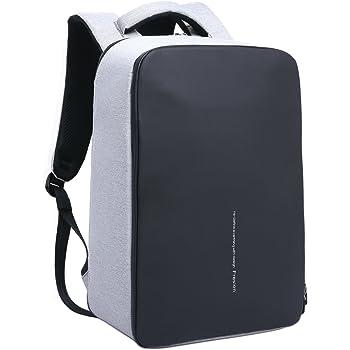 Notebook-Rucksäcke, Fresion Laptop Rucksack Herren Arbeit Business Notebookrucksack Damen Wasserdicht Multifunktionsrucksack mit External 2.0 USB Ladeanschluss (Grau 24L)