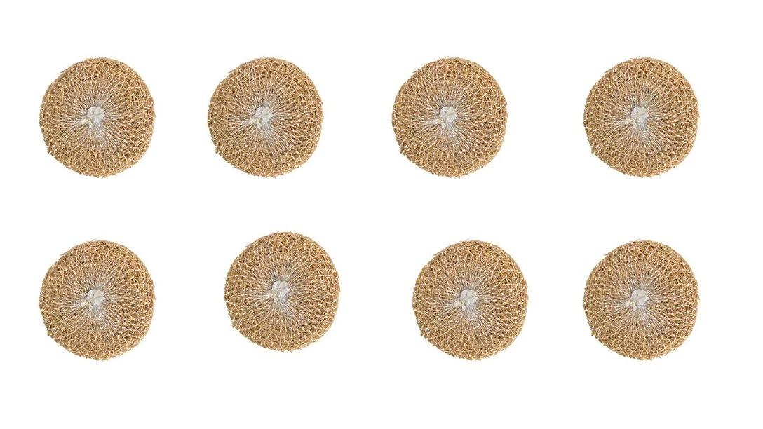 急勾配の奇跡同種のNatural and ayurvedic vetiver (Ramacham) bath scrubber - 8 Pieces - Anti bacterial and Reusable - 自然とアーユルヴェーダのベチバー(ラマチャム)バススクラバー-8 個-抗菌および再利用可能