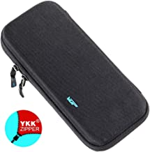 VUP Ultra Slim Carrying Case for Nintendo Switch, Switch Hard Cover Portable Protective Travel Shell for Nintendo Switch Console & Accessories with 8 Game Cartridges - Black