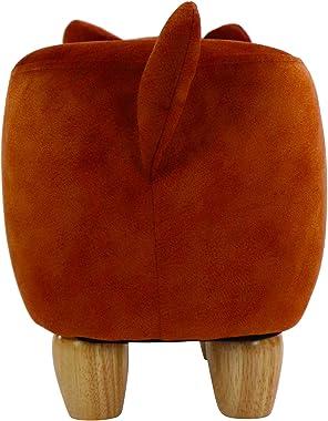 CRITTER SITTERS 11-in. Seat Height Fox Animal Shape Mini Ottoman, Tan