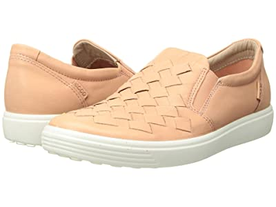 ECCO Soft 7 Woven Slip-On (Rose Dust Cow Leather) Women