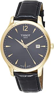 Tissot Men's Quartz Watch with Stainless-Steel Strap, Black, 20 (Model: T0636103605700)