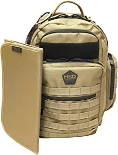 HSD Diaper Changing Mat Pad, Easy to Clean, 600D Waterproof Polyester Backing, Military Style (Coyote Brown)