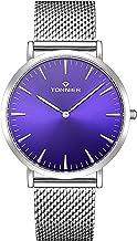 Tonnier W8479G Silver Stainless Steel Slim Men Watch Quartz Watch