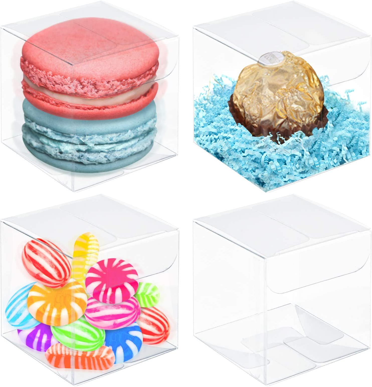 Favor Boxes SET OF 10 Wedding Favor Boxes Baby Shower Favors Personalized Favor Boxes Bridal Shower Favors Clear Candy Cube