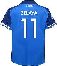 Umbro ZELAYA #11 El Salvador Home Youth Soccer Jersey-Blue 2019-20