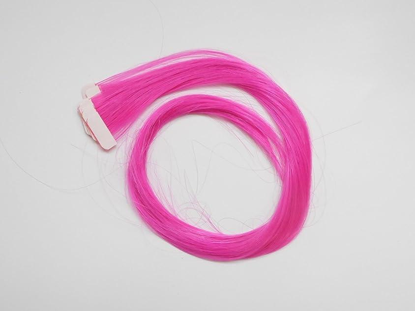 グリップ中世の手入れ簡単エクステ テープエクステンション シールエクステンション 10枚入 10色カラー (ピンク)