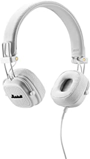 Marshall 馬歇爾 Major II 頭戴式HiFi搖滾重低音監聽耳機 折疊式線控式耳麥 米白色