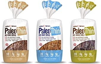 Paleo Bread (3 Pack) Low Carb, Gluten-Free, Grain-Free (From 1 Net Carb) (Variety)