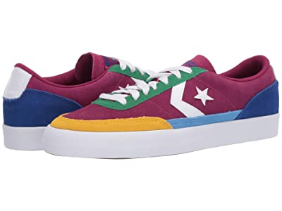Converse Net Star Classic Suede Ox (Rose Maroon/Amarillo/Rush Blue) Men