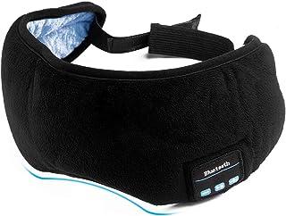睡眠 アイマスク イヤホン BT音楽 立体型 軽量 安眠 アイマスク 圧迫感なし究極の柔らかシルク質感 仮眠 旅行 眼精疲労 疲労回復に最適 [ブラック]