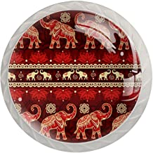 AITAI Olifant Rode Indische Ronde Kabinet Knop 4 Pack Trekt Handvatten