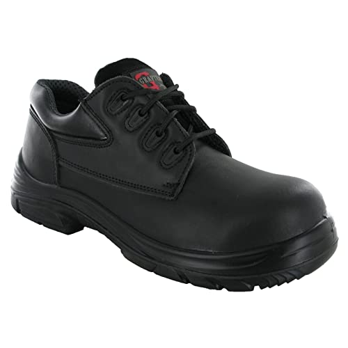 5a31f359093 Grafters Wide EEEE Fit 4 Eye Leather Safety Steel Toe Mens Boots Shoes  UK6-14