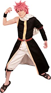 US Size Anime Cosplay Natsu Dragnee Costume With Scarf wrister