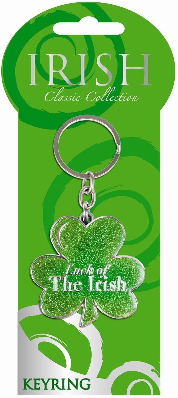 Gift From Ireland Spinner Keyring-Green Shamrock