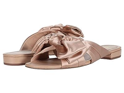 J.Crew Satin Bow Leather Lucy Slide (Blush) High Heels