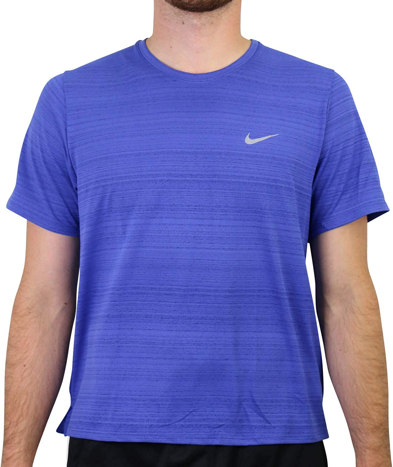 Nike Men's Dri-Fit Miler Short Super beauty low-pricing product restock quality top Shirt Sleeve Running