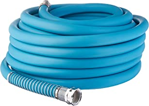 Aqua Joe AJPGH50-DWS 5/8 in 50 Ft. Hybrid Polymer Flex Kink Free Hose, Drinking Water Safe