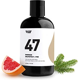 47 Natural Cleansing Body Wash, Organic Shower Gel, Natural Body Wash for Men and Women, Suitable for All Skin Types (Energize - Grapefruit and Pine) - Way of Will