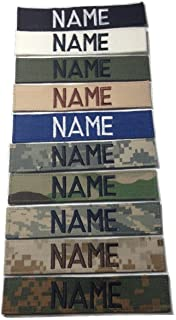 ACU Multicam OCP Black ABU OD Green Desert CivilAirPatrol, US ARMY USAF USMC POLICE, Custom Name Tape with Fastener (With Fastener, Black)