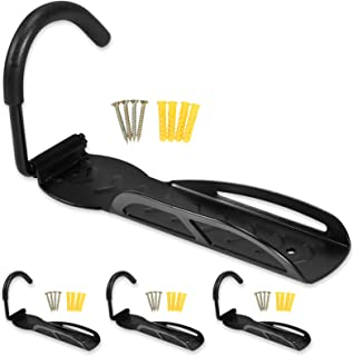 Voilamart Pack of 4 Bike Bicycle Wall Storage Hanger Hook for Garage Shed,66lb Max Capacity for a Single Bike