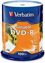 Verbatim DVD-R 4.7GB 16X White Inkjet Printable – 100pk Spindle