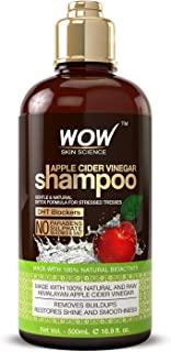 WOW Apple Cider Vinegar Shampoo – Reduce Dandruff, Frizz, Split Ends- DHT Blockers..