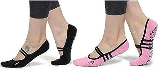 Women's Ballet Grip Socks (2 Packs) for Barre Pilates Yoga