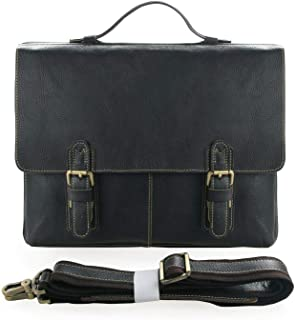 J.M.D Men's Genuine Leather Lawyer Briefcase Expandable Business Handbag
