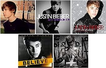 Justin Bieber: Complete Studio Album Discography - 5 CDs (My World / My World 2.0 / Under The Mistletoe / Believe / Purpose)