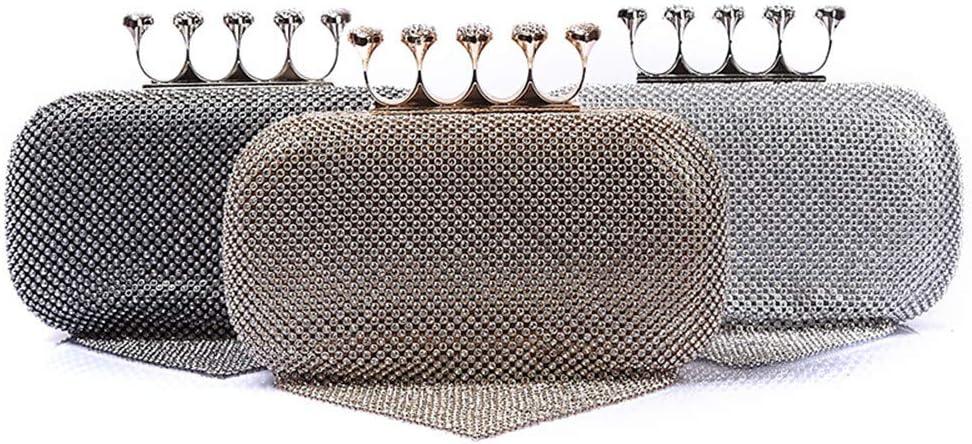 Yuqianqian Pochette de Soirée pour Femme Lady Banquet Embrayages Cristal Tassel Pendentif Soirée Sac À Main De Mariage Robe d'embrayage Bourse (Color : Silver) Silver