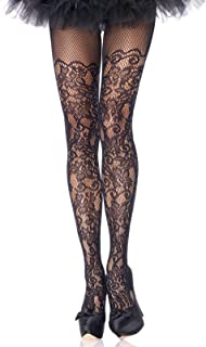 Leg Avenue Women's Plus Size Plus Size Floral Vine Fishnet Tights, Plus Size