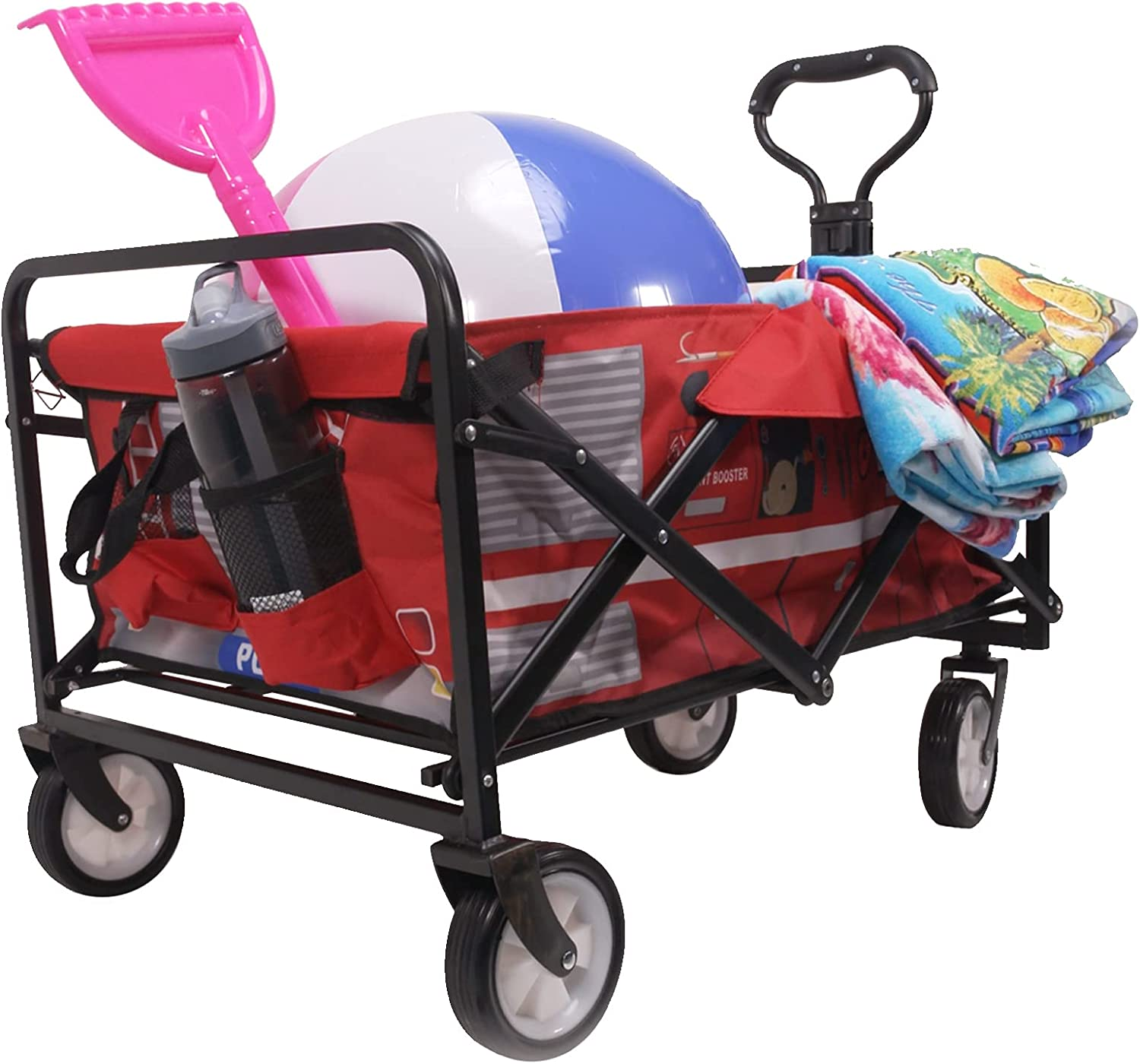 Reliant Outdoor Heavy Duty Collapsible NEW Beach Adj Wagon Daily bargain sale with Cart