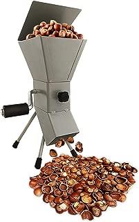 Hand Crank Nutcracker Tool for Pecans (soft shell), Almonds, Hazelnuts, Filbert Nuts, Brazil Nuts, Pistachios and English Walnuts. All Steel Nut Cracker Machine – Nutcracker Tool! (GRAY)